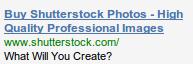 Ad copy Shutterstock