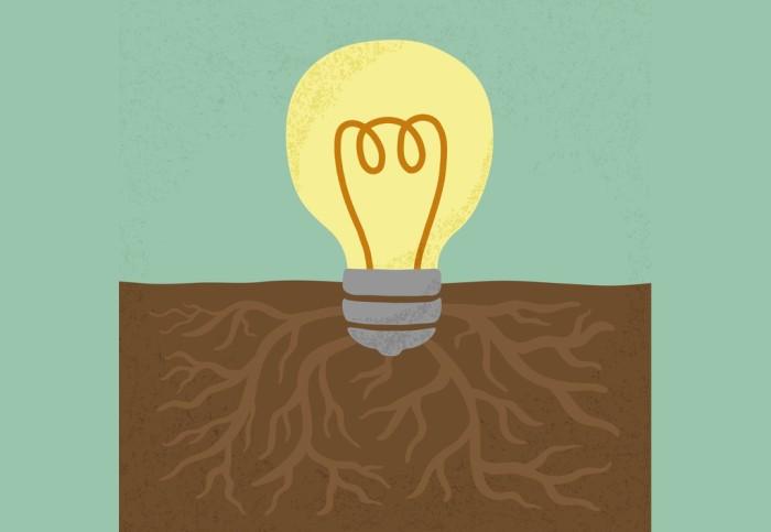 Idea tree light buld illustration for entrepreneurship